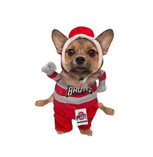 Pet Krewe The Ohio State University Brutus The Buckeye Hundekostüm, Small, - Fußball Maskottchen Kostüm