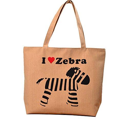 ANNE Moda Borsa Di Spalla Borsa a Tracolla Della Borsa Del Sacchetto Casuale Dell'ambiente Zebra