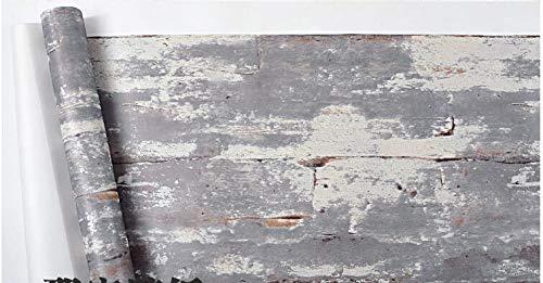 ZCHENG Industrielle Windtapete Retro nostalgisch American Loft Nachahmung Zement Farbe Hintergrund Bar Persönlichkeit Restaurant Tapete, 631003,5.3㎡