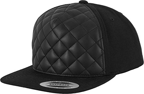 Flex fit Diamond Quilted Snapback Black One Size Casquette Unisex-Adult