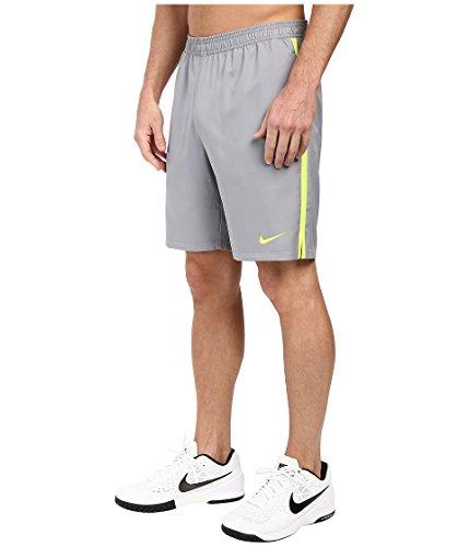 Nike Court 9 Zoll Shorts Men Beinkleid Grey/Volt