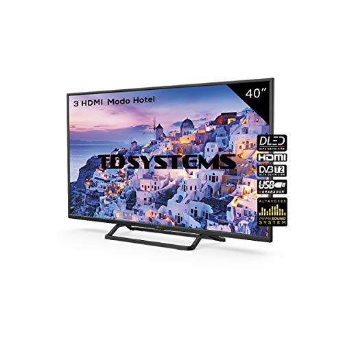 Televisor Led 40 Pulgadas Full HD, TD Systems K40DLX9F. Resolución 1920 x 1080, 3X HDMI, VGA, USB Reproductor...