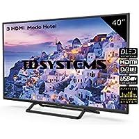Televisor Led 40 Pulgadas Full HD, TD Systems K40DLX9F. Resolución 1920 x 1080, 3X HDMI, VGA, USB Reproductor y Grabador.