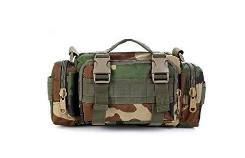 Zll/Armee Fan Outdoor Tasche Tactical Brust Pack 3P Magic Taille Bag Messenger Bag Mann Tasche mit Riding Big Taschen Jungle-Grün