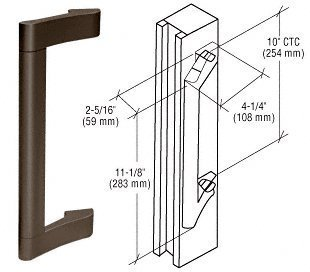 Crl Duranodic Bronze-finish (CRL Duranodic Bronze Finish Extruded Aluminum Pull Handle by C.R. Laurence)