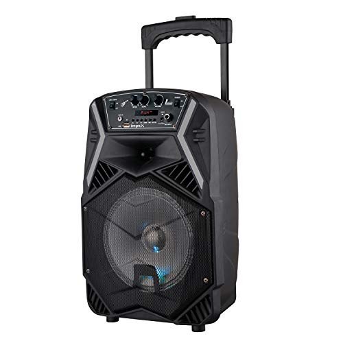 Impex TS-25B 25 W Multimedia Portable Trolley Speaker with Mic & LED Light