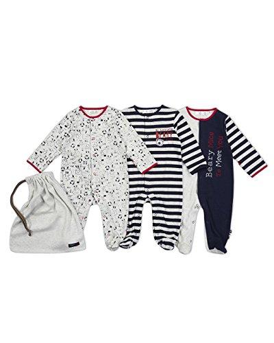 The Essential One - Baby Jungen Schlafanzuge/Schlafanzug/Einteiler/ Strampler - 0-3 M - Marineblau - ESS200