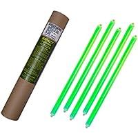 Cyalume - Paquete de 20 tubos luminosos SnapLight Impact, 40 cm, 15 pulgadas, 2 Anillas, 12 horas, no-embalados individualmente, color verde