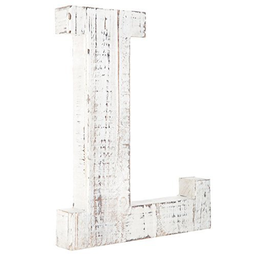 eiß Alphabet Wand Décor/freistehend Monogramm Buchstabe L ()