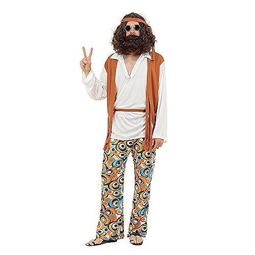 70s costumes amazon hippie man fancy dress costume adult size solutioingenieria Images