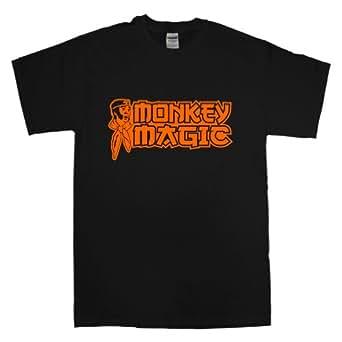 Mens Monkey Magic T Shirt - Black - Small