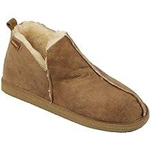 Pantofole da uomo in Lana di Pecora con Finitura di pelle f8d83647bb4