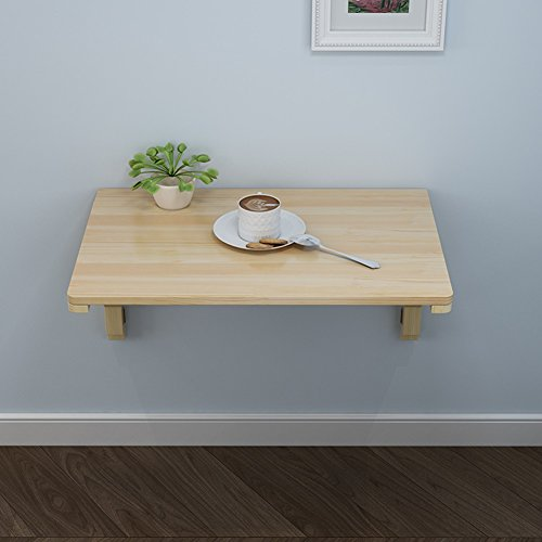 Tavolo da pranzo pieghevole da parete in legno massello sospeso da ...