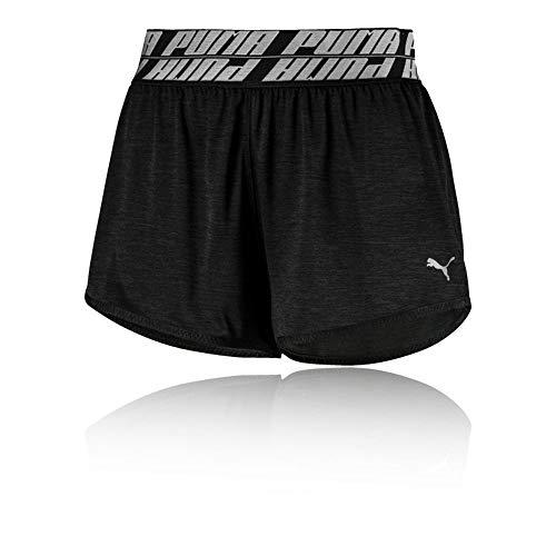 PUMA Damen Own It 3` Short Jogginghose, Black Heather, L