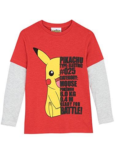 Pokmon-Camiseta-de-Mangas-largas-para-nio-Pikachu