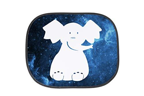 (Mr. & Mrs. Panda Auto Sonnenschutz Elefant sitzend - Elefant, Savanne, Dickhäuter, Elefantenkuh, Afrika, Erdnüsse, Kinderzimmer Sonnenschutz, Auto, Sonnenblende, Fenster, PKW, Kinder, Familie, Geschenk, Rücksitz)