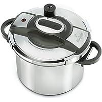 BACKEN Autocuiseur 6L : 3 à 4 personnes-Ø24CM-3 programmes de cuisson-Panier vapeur-Ouverture/fermeture ultra facile-Tous feux dont induction