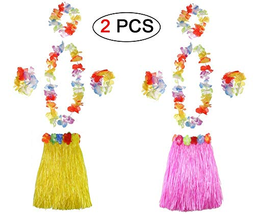 Ungfu Mall 2 Sets Hawaiian Hula Gras Rock Blume -