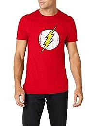 DC Comics - Camiseta de Flash con cuello redondo de manga corta para hombre 74ff98a2a3f