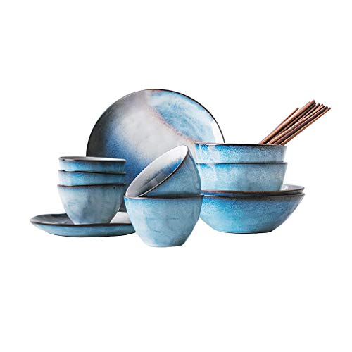 Service de table en céramique, plats de qualité, vaisselle, assiettes, bols, baguettes, costume de 16 pièces, cadeaux de mariage