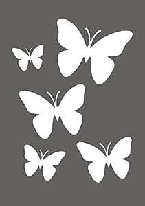 d coration murale papillons a rographe peinture pochoir r utilisable en mylar pour plus de. Black Bedroom Furniture Sets. Home Design Ideas