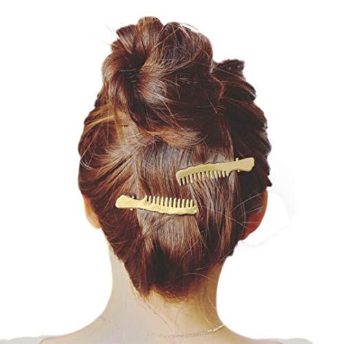 1 STÜCK Damen Haarspange Haarschmuck Kopfschmuck Rosennie Haarnadel Mädchen Mode Haarspangen Scissors Patern Stirnband Set Silbere Hairclips Haarklammern für Frauen(Gold A)