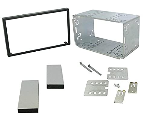 XtremeAuto® 102mm UNIVERSAL DOUBLE DIN INSTALLATION FRAME CAGE KIT FOR: car stereo, cd player, sat nav, head unit etc.