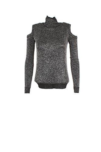 Guess Ls Tn Elisa, T-Shirt Donna Multicolore (Silver/Blk Combo)