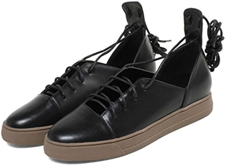 GAOLIXIA Damenschuhe Flache Freizeitschuhe Bullock Schuhe Im Freien Bequeme Ankle Strap College Freizeitschuheö