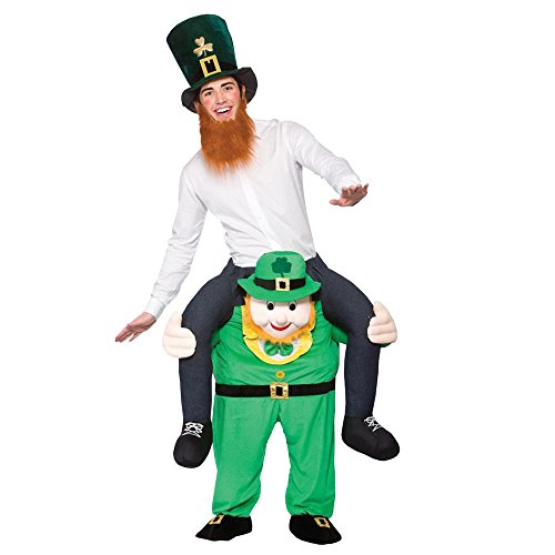 (Peeks Adult Carry Me Leprechaun Unisex Fancy Dress Costume Full Outfit One Size)