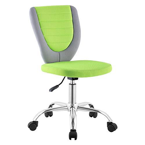 CARO-Möbel Kinderdrehstuhl Future Schreibtischstuhl Drehstuhl in grau/grün, höhenverstellbar