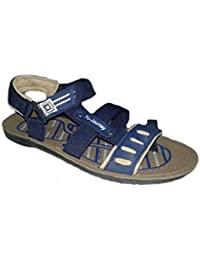 Pu Aria Men's Casual Outdoor Sandals And Floaters Blue Color Size - 6 To 9