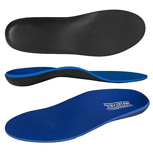 WateLves Shockless Schuheinlagen Fersengepolsterte Orthopädische Einlegesohlen für flache Füße Einlagen Comfort Premium Federleichter Laufkomfort, Blau, 40 EU