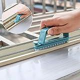 TAOtTAO - Spazzola per la pulizia del pavimento multifunzione e staccabile, 2 in 1, blu