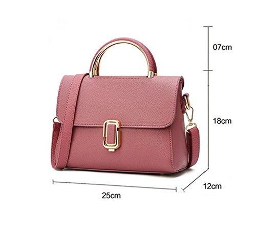 Damen-Tasche Schultertasche Handtasche Messenger Bag Lock Shell Shell Freizeit Mode Atmosphäre Wild Red2