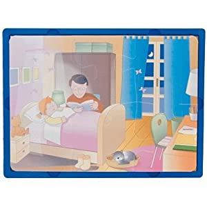 Learn and Play Aprende y Juega 27,5 x 19 cm Tiempos del día Suave Puzzle (Juego de 3)