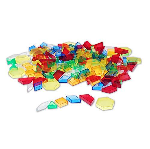 TickiT 73093 Bloques para patrones, 180 piezas, translúcidos