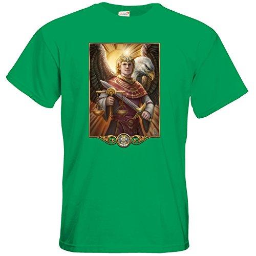 getshirts - Das Schwarze Auge - T-Shirt - Götter - Praios Kelly Green