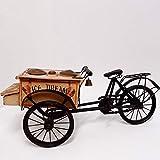 art der zeit Eiswagen Holz EIS Waffel Verkaufswagen Puppenrad 63 cm Nostalgie Dreirad Vintage