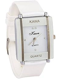 Talgo Presents Girl's Black Leather Analogue Watch (Woman's Watch_Kawa White) | Fashion Wrist Watch | Women Watch
