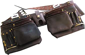 Professional 12 Pkt Professional Oil Tanned Double Leather Tool Belt
