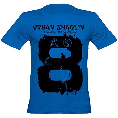 Urban Shaolin Mens Glückszahl 8 japanisches Kanji-Symbol inspiriert Largedruck angepasste T-Shirt, Medium, (Japanische Kostüm Arts Martial)