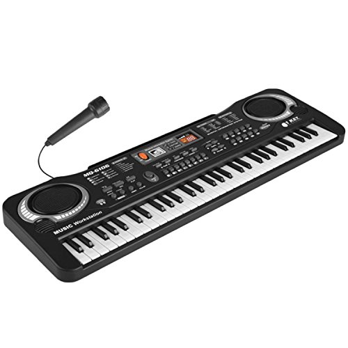 Gosear Multi-Funktion 61 Tasten Kinder Elektronische Orgel Tastatur Klavier Kind Musikalische Lehre Spielzeug mit Mikrofon Und EU Power Netzkabel