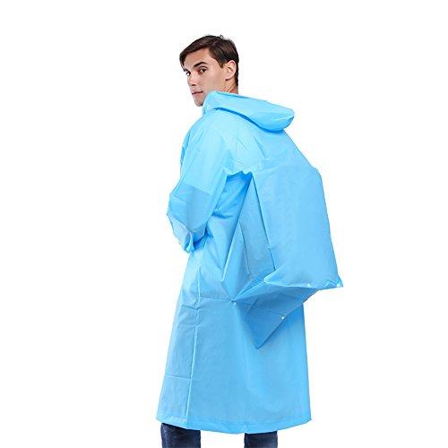 Sunmoch Nicht-Einweg Regenponcho Wasserdicht Regenjacken Motorad Regenmantel Mode Regenjacke Eva Raincoat Regencape Fahrrad(Blau)