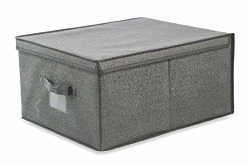 Galileo casa 2412141 scatola, tessuto non tessuto (tnt), grigio, 25 x 50 x 40 cm