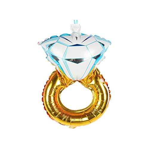 1 globo hinchable con forma de anillo de diamante, ideal para bodas...