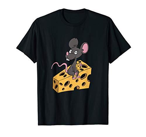 Lustiges Maus und Käse Sucht Geschenk für Low Carb Koch T-Shirt