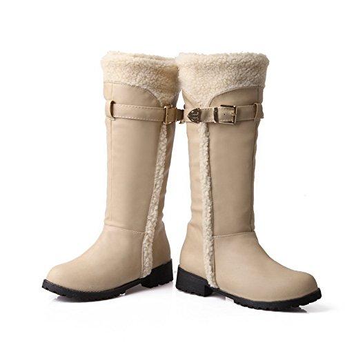 Sconosciuto 1TO9 - Stivali da Neve Donna Beige