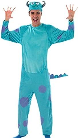 Bleu Monstre De Costumes Monsters Inc - erdbeerloft–Messieurs monstre Bleu Jumpsuit Costume, M–XL, Bleu