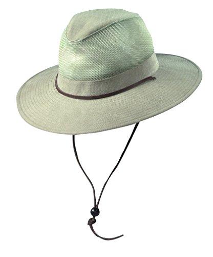 Dorfman Pacific Hats Herren UV Hüte, Khaki, 58 cm, 864WM-KAKI3 (Pacific Hut Baumwolle Dorfman)